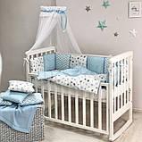 Постільний набір в ліжечко Baby Design Stars блакитний, фото 6