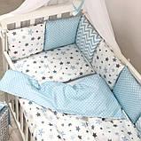 Постільний набір в ліжечко Baby Design Stars блакитний, фото 8