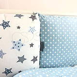 Постільний набір в ліжечко Baby Design Stars блакитний, фото 9