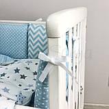 Постільний набір в ліжечко Baby Design Stars блакитний, фото 10