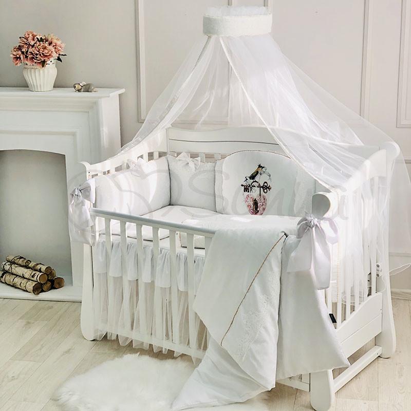 Постільний набір в ліжечко Kolibri білий