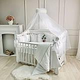 Постільний набір в ліжечко Kolibri білий, фото 3