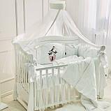 Постільний набір в ліжечко Kolibri білий, фото 4