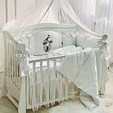 Постільний набір в ліжечко Kolibri білий, фото 5