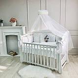 Постільний набір в ліжечко Kolibri білий, фото 6