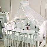 Постільний набір в ліжечко Kolibri білий, фото 7