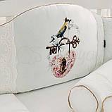 Постільний набір в ліжечко Kolibri білий, фото 9