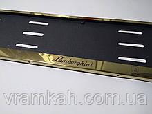 Номерная рамка для авто Lamborghini gold