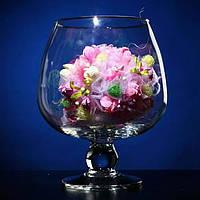 Ваза для флористики. Ваза бокал. Высота 180 мм, диаметр 150.Ваза  для флористики, цветов и свечей