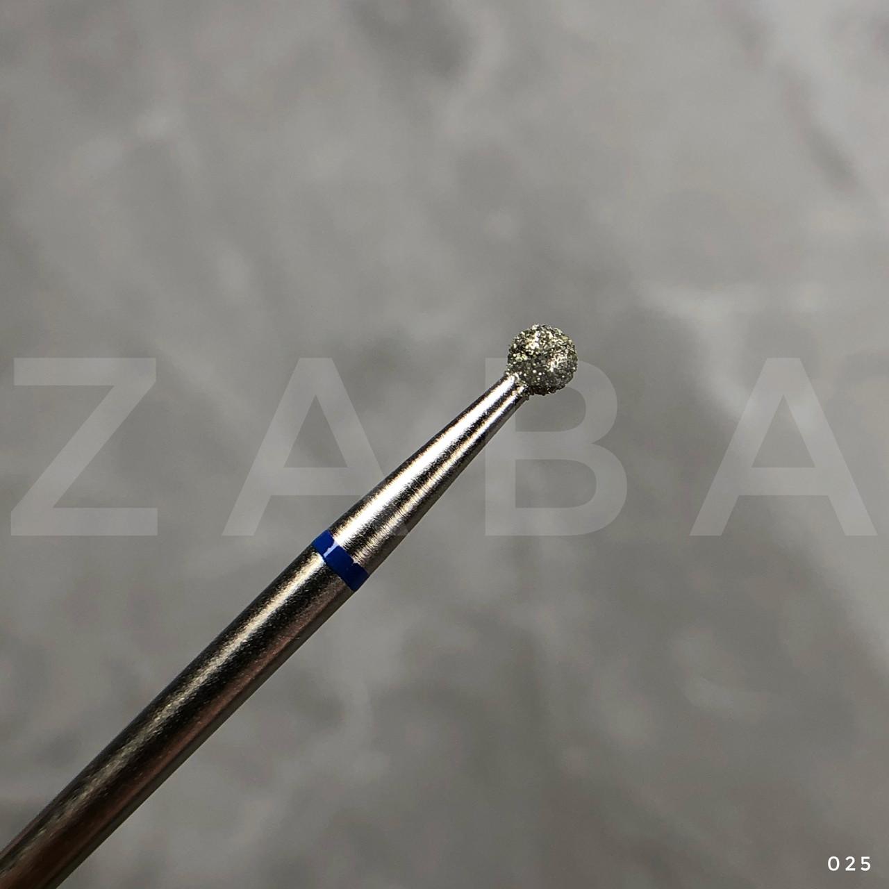 Фреза алмазная Шар 025, синяя