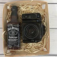 Подарочный набор Мыло ручной работы Jack Daniel's с фотоаппаратом оригинальный подарок прикольный