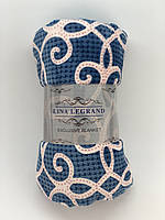 Плед покрывало с принтом 180x200см микрофибра LINA LEGRAND