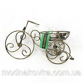 Подставка для цветов кованая на 1 вазон Велосипед мини
