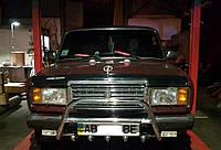 Кенгурятник с грилем (защита переднего бампера) ВАЗ 2107 (LADA)