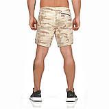Спортивные шорты с карманом для телефона, мужские шорты-тайтсы хакки светлый25-0031, фото 2