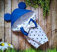"""Конверт на выписку """"Ушки"""", конверт-одеяло на выписку весна-лето"""
