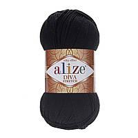 Alize Diva Stretch, №60, черный