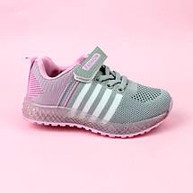 Текстильные кроссовки для девочек тм Boyang размер 25,27, фото 3
