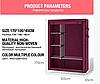 Тканевый шкаф складной STORAGE WARDROBE KM-105 на 2 секции (106х45х170 см), органайзер для одежды, фото 2