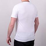 Чоловіча однотонна футболка великого розміру, білого кольору, фото 2