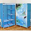 Тканевый шкаф складной STORAGE WARDROBE KM-105 на 2 секции (106х45х170 см), органайзер для одежды, фото 3