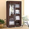 Тканевый шкаф складной STORAGE WARDROBE KM-105 на 2 секции (106х45х170 см), органайзер для одежды, фото 4