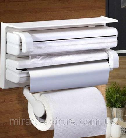 Кухонный диспенсер для фольги и полотенец Kitchen Roll Triple, фото 2