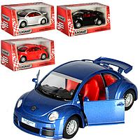 HU Машинка жел KINSMART KT 5058 W (96шт) инер-я, 1:32 VW NEW BEETLE RSI PULL