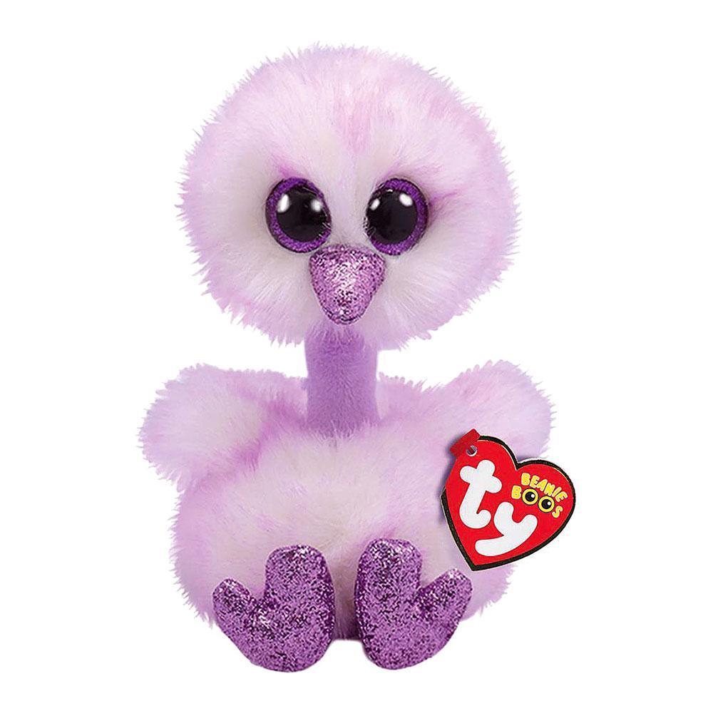 Мягкая игрушка Лавандовый страус Кения 18 см. Оригинал TY Inc. 36329