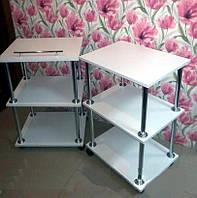 Тележка косметологическая №1 (этажерка) Парикмахерский стол на колесиках