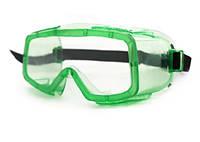 Очки защитные панорамные Зеленый (MAS40309)