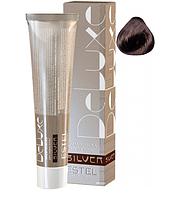 Краска для седых волос  ESTEL DE LUXE SILVER 4/7 Шатен коричневый уценка