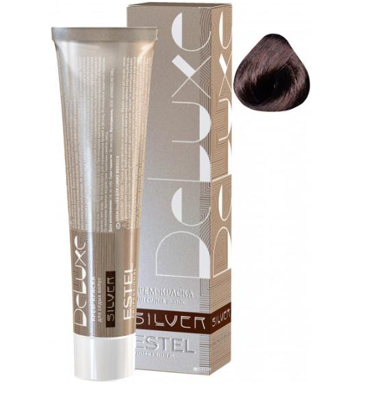 Купить Краска для седых волос ESTEL DE LUXE SILVER 4/7 Шатен коричневый уценка, Estel professional