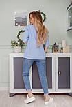 Пиджак женский цвет: белый, голубой, хаки, горчица, кирпич. Размеры 42-44, 46-48, фото 2
