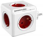"""Разветвитель 220В, Allocacoc, Power Cube, """"Original"""", Красный (1100RD/DEORPC)"""