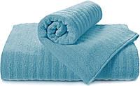 Полотенце махровое Volna синее
