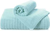 Полотенце махровое Volna голубое