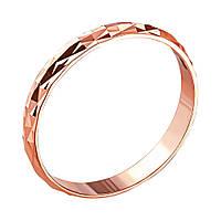 Обручальное кольцо из красного золота с алмазной гранью 000000298 000000298 23 размер