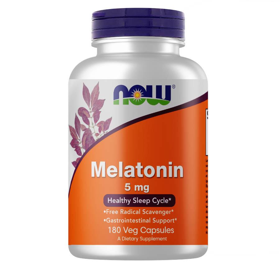 Восстановитель NOW Melatonin 5 mg, 180 вегакапсул