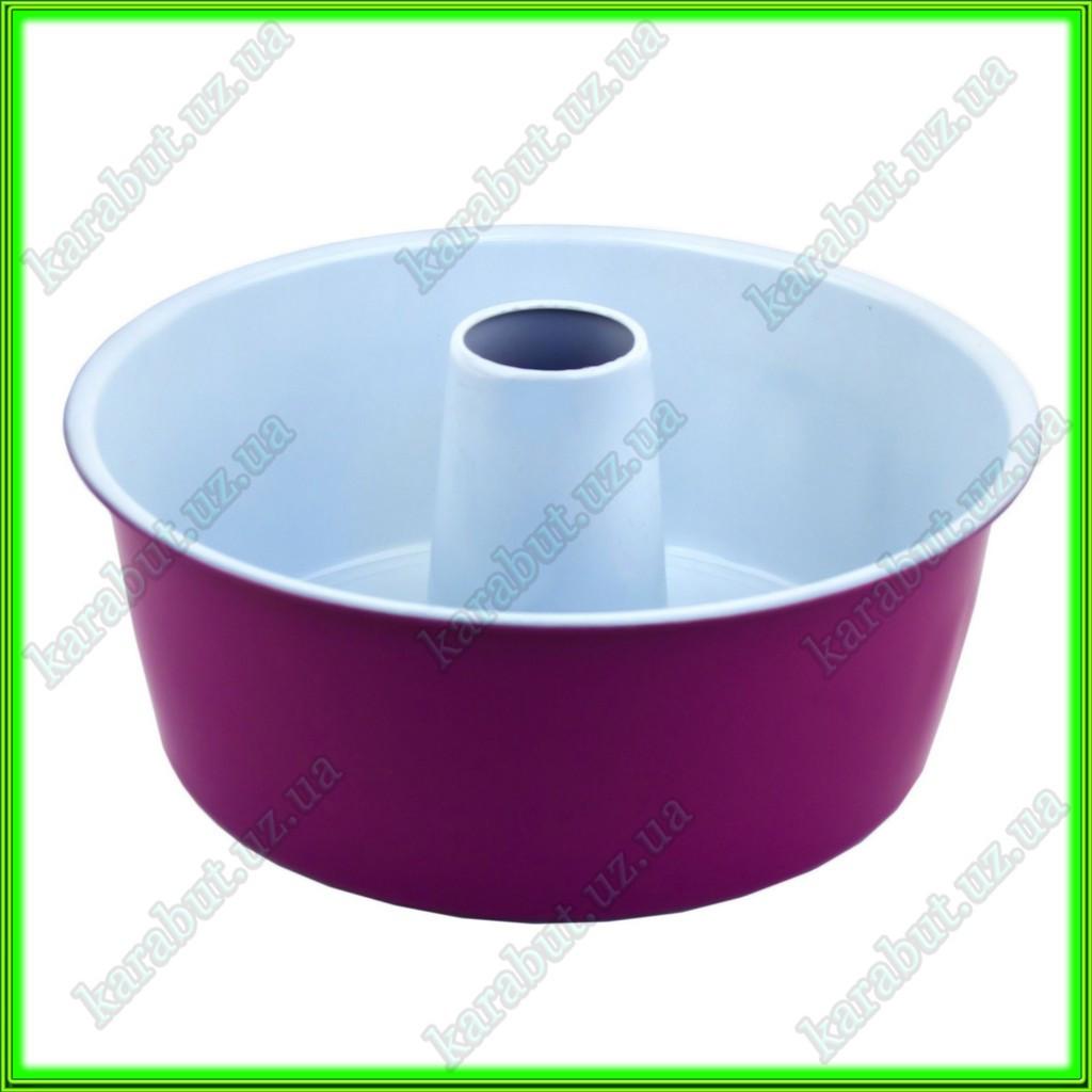 Форма с керамическим покрытием для выпечки кекса с дыркой D25,5см  h 9.5см