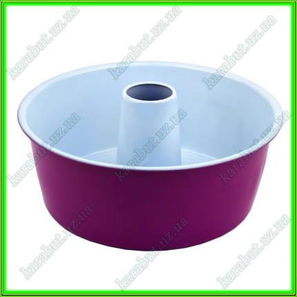 Форма с керамическим покрытием для выпечки кекса с дыркой D25,5см  h 9.5см, фото 2