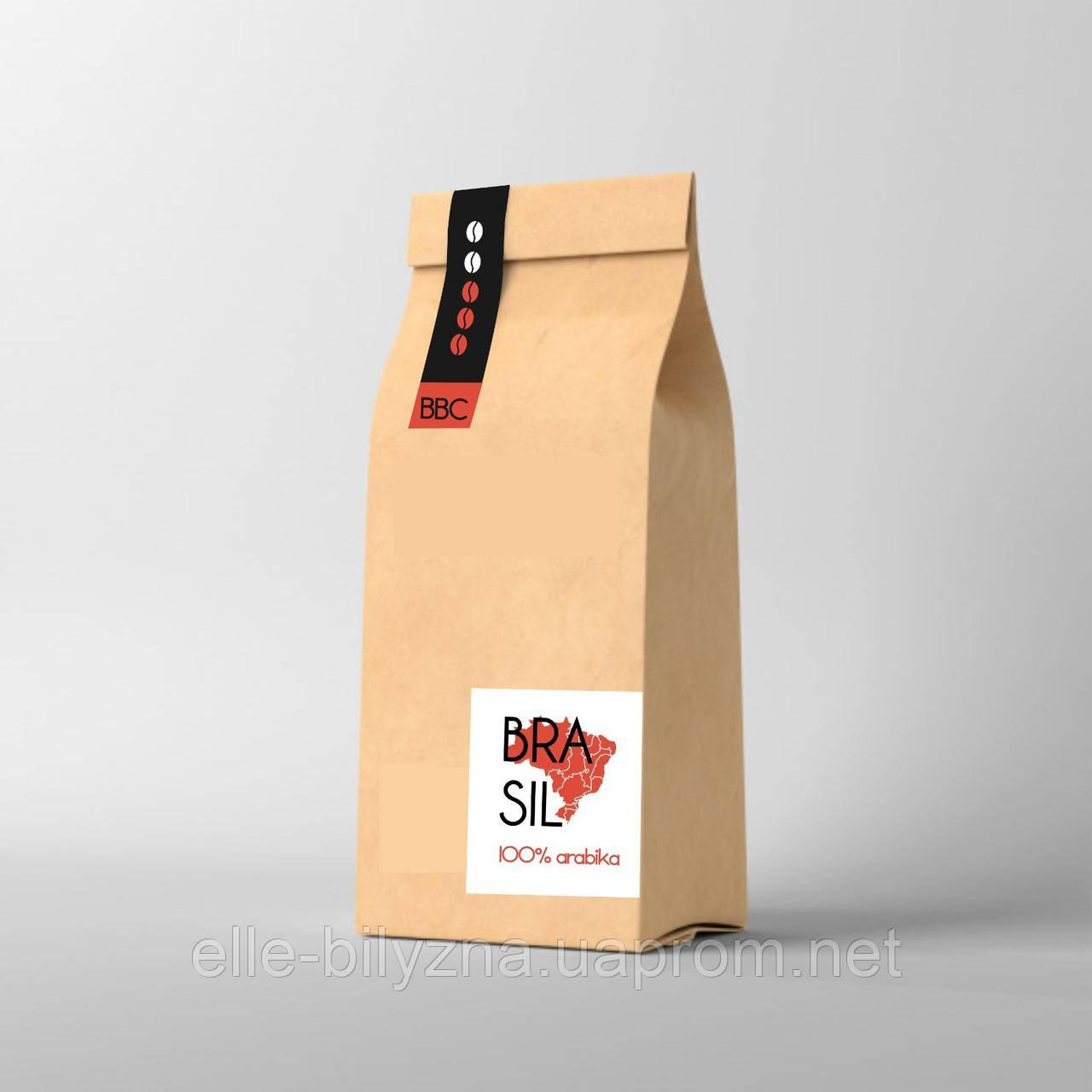 Кофе в зернах или молотый Арабика Бразилия Сантос 1 кг