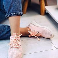 Пудровые текстильные кроссовки