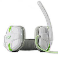 Игровая гарнитура SALAR KX101 Белый с микрофоном стерео 3.5 jack для игр геймеров пк игровые наушники, фото 2