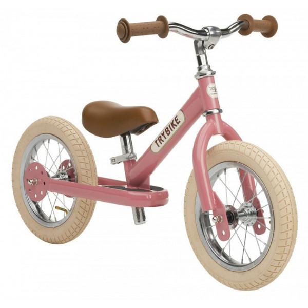 Trybike Балансирующий велосипед беговел 2 в 1 розовый Steel 2 in 1 Balance Bike Pink
