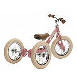Trybike Балансирующий велосипед беговел 2 в 1 розовый Steel 2 in 1 Balance Bike Pink, фото 4