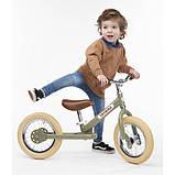 Trybike Балансирующий велосипед беговел 2 в 1 оливковый 6167 Steel 2 in 1 Balance Bike Trike green, фото 3
