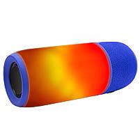 Блютуз колонка LZ Pulse P3 Blue для качественной музыки светомузыка функция Bluetooth, фото 2