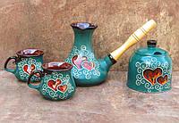 Набір кавовий Східний 270 мл. декор Серце зелений