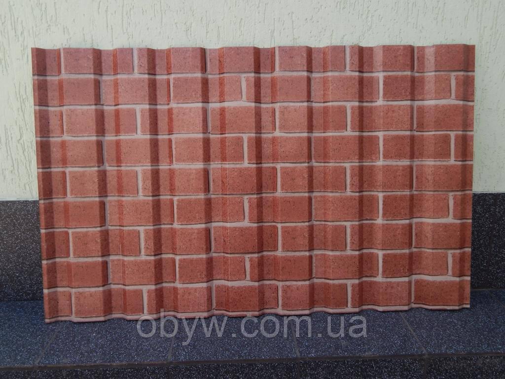 Забор из профлистов под декоративный кирпич